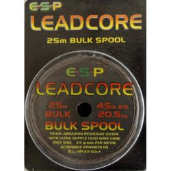 E.S.P. Leadcore 25m 45 lb ( COLOR GRAVA)