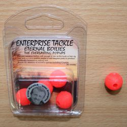 Enterprise Eternal Boilies 15mm fluro rojo flotante(5 unid)