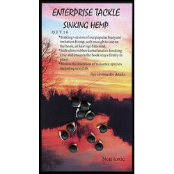 Enterprise Tackle Artificial Hemp equilibrado 10 UNID