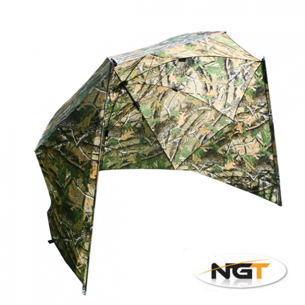 NGT Paraguas Camo Storm Brolly with Sides 50``