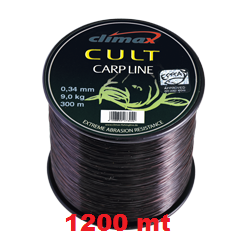 Climax CULT 0.38 mm Carp-Line Black 1200m