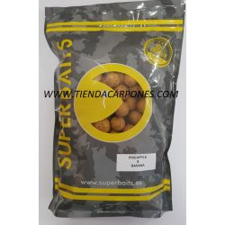 Superbait Boilies Normales 20mm 1kg PIÑA&BANANA