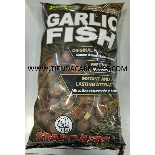 Starbait Boilie 14mm Garlic&Fish 1kg (Ajo&Pescado)