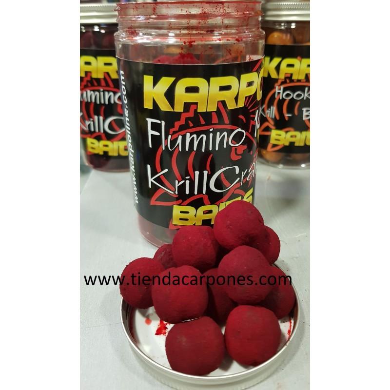 KarpoBaits Hookbaits Boilie 18mm Flumino Krill&Crab