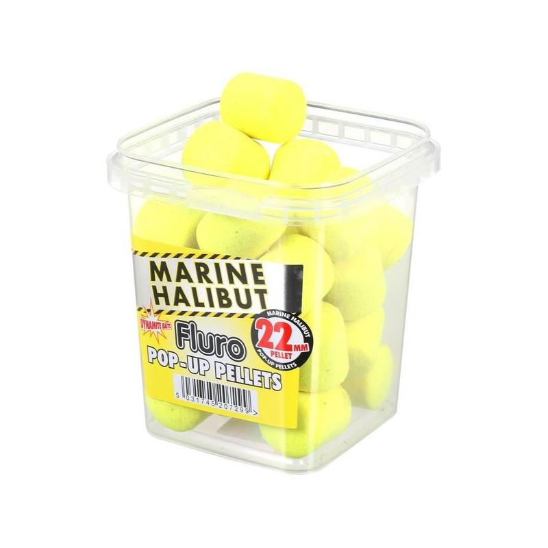 Dynamite Pellet Flotantes 22mm Fluor Marine Halibut