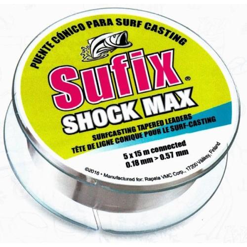 Sufix Shock Max Hilo Bajo Conico 0.26mm a 0.57mm 15unid X 5m