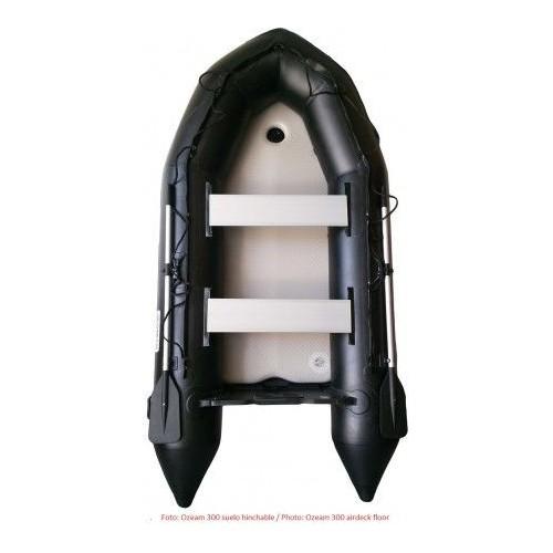 OZEAM Barca Hinchable 3,00m con suelo de madera y quilla (4 colores disponibles)