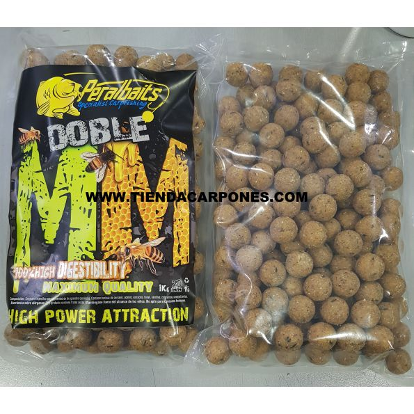 PeralBaits Boilies 20mm 1Kg DOUBLE M (Melon-Miel)