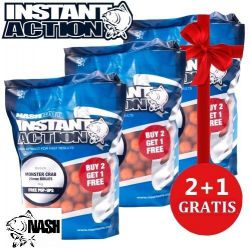 Nash Oferta Lote 3 bolsas Boilies Monster Crab 18mm 1kg 2+1 gratis