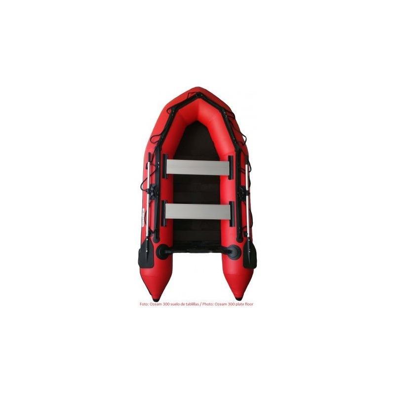 OZEAM Barca Hinchable 330m con suelo de Tablillas (4 colores en stock)