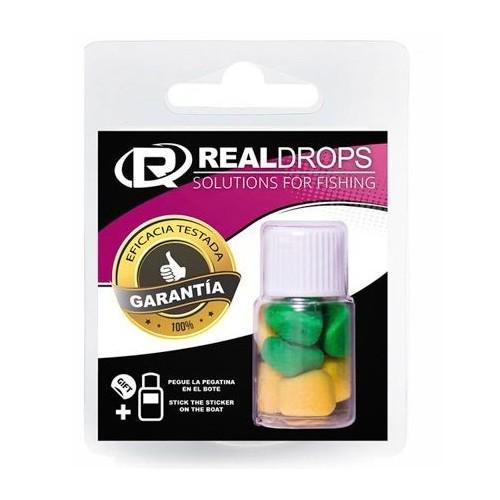 Real Drops Maiz Amarillo&Verde flotante en aroma Melon 8 unid