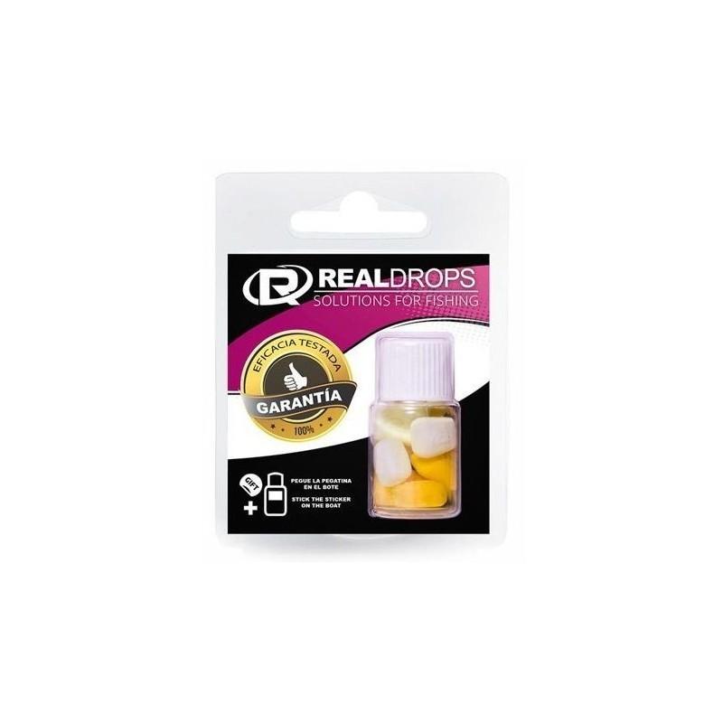 Real Drops Maiz Amarillo&Blanco flotante en aroma QUESO 8 unid