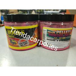 Poisson Hook Pellets 14-20mm Powder dip BANANA&FRESA 200ml