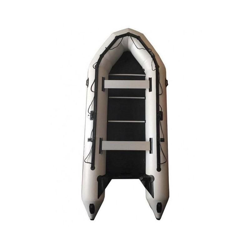 OZEAM Embarcación neumática 400 con suelo completo de madera y quilla hinchable