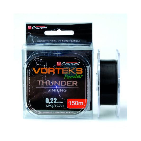 VORTEKS NYLON FEEDER THUNDER 150 MT 0.25mm 6.1KG
