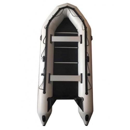 OZEAM Embarcación neumática 450 con suelo completo de madera y quilla hinchable