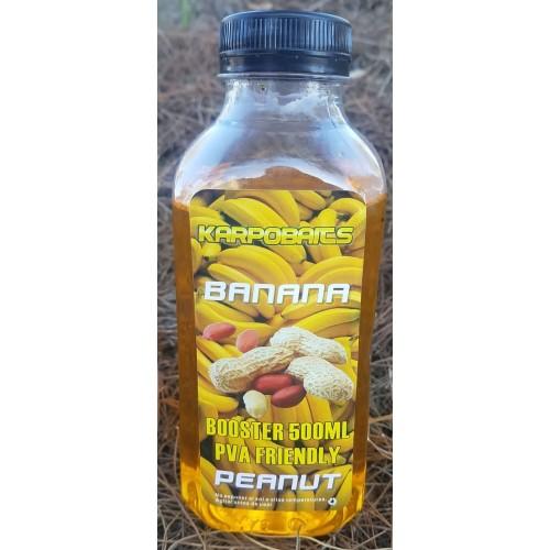 KarpoBaits Booster Liquid BANANA 500ml Pva Friendly (BANANA)