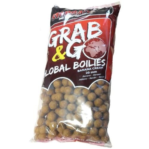 STARBAITS BOILIES GRAB&GO GLOBAL 10KG. BANANA CREAM
