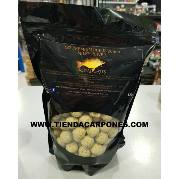 Royal Baits Premium Boilies RB2 MILKY POWER 20mm 1kg