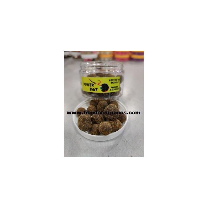 PowerBait Hookbait Pescado&Especias Dumbell&Boilies 14mm