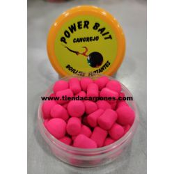 PowerBait Boilies&Dumbell 10mm Cangrejo (Rosa)
