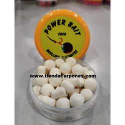 PowerBait Boilies&Dumbell 10mm COCO (blancos)
