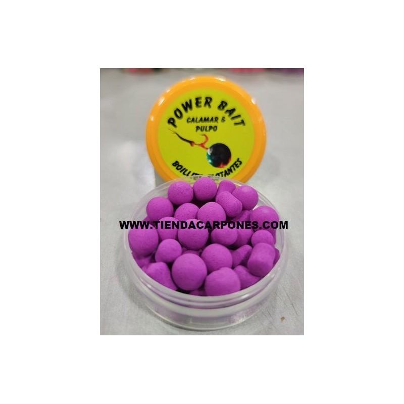 PowerBait Boilies&Dumbell 10mm Calamar&pulpo (Morado)