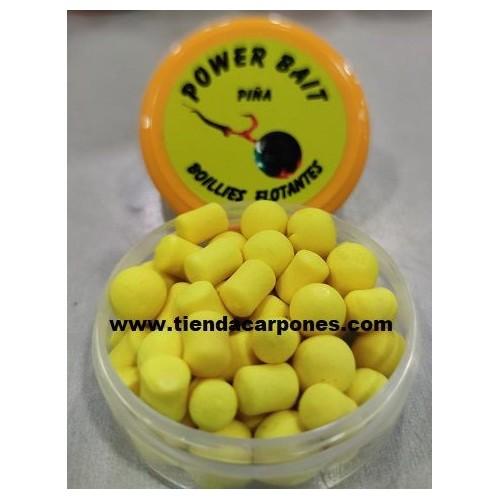 PowerBait Boilies&Dumbell 10mm Piña (Amarillo)