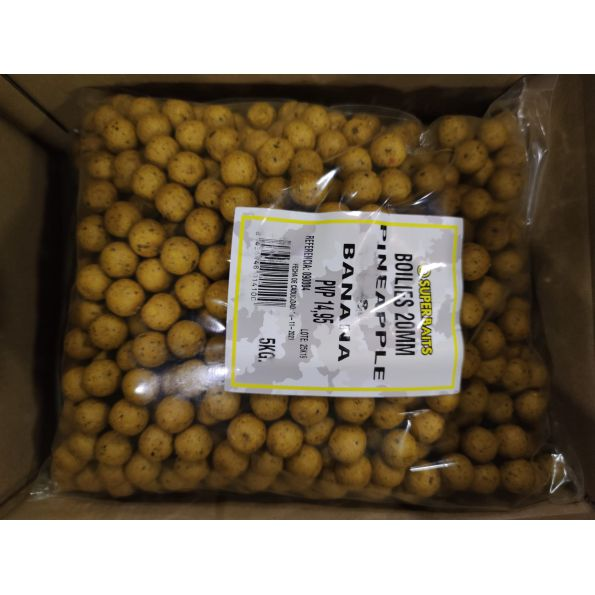 Superbait Boilies 20mm 5 KG Piña&Banana