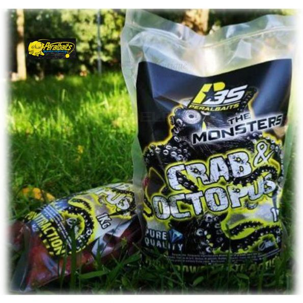 PeralBaits Boilies 20mm 1Kg CRAB&OCTOPUS