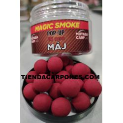 Motabacarp Boilies Flotantes Magic smoke 15mm MAJ (SALCHICHA AHUMADA)