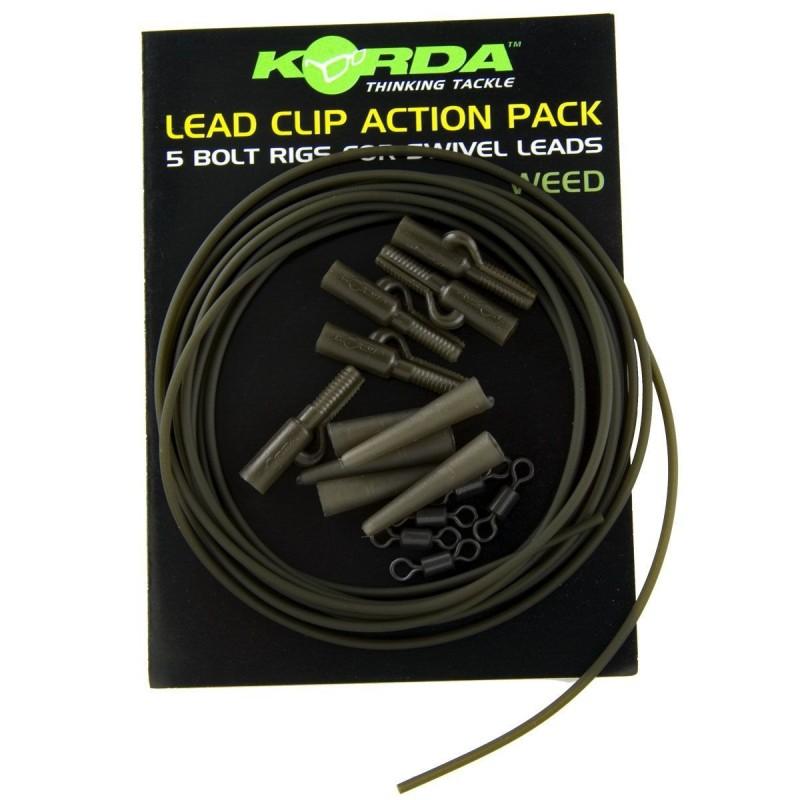 Korda Lead Clip Action Pack (Weed) Verde