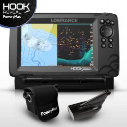 Sonda GPS Plotter Lowrance HOOK Reveal 7 HDI 83/200+BATERIA PoweryMax Ready