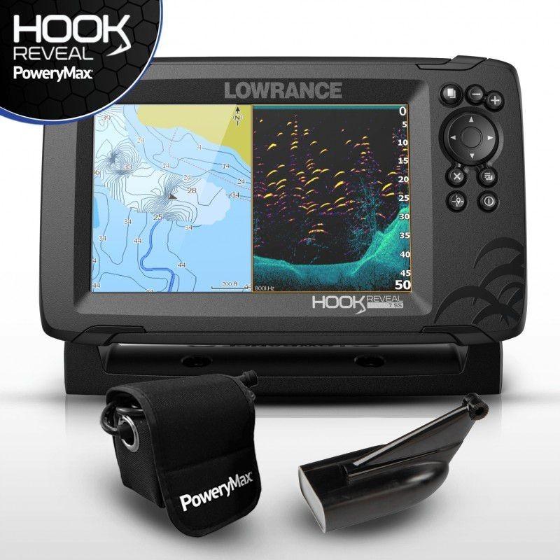 Sonda GPS Plotter Lowrance HOOK Reveal 7 HDI 83/200+BATERIA PoweryMax Ready