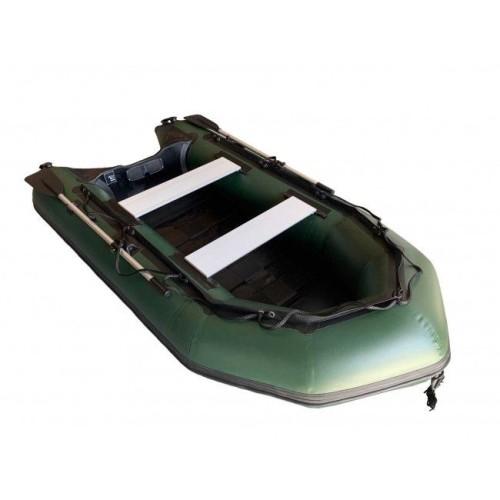 OZEAM Embarcación neumática 300 VERDE con suelo de TABLILLAS