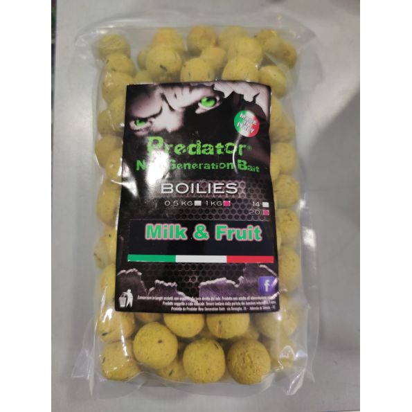 Predators Boilies Milk-Fruit 20mm 1Kg