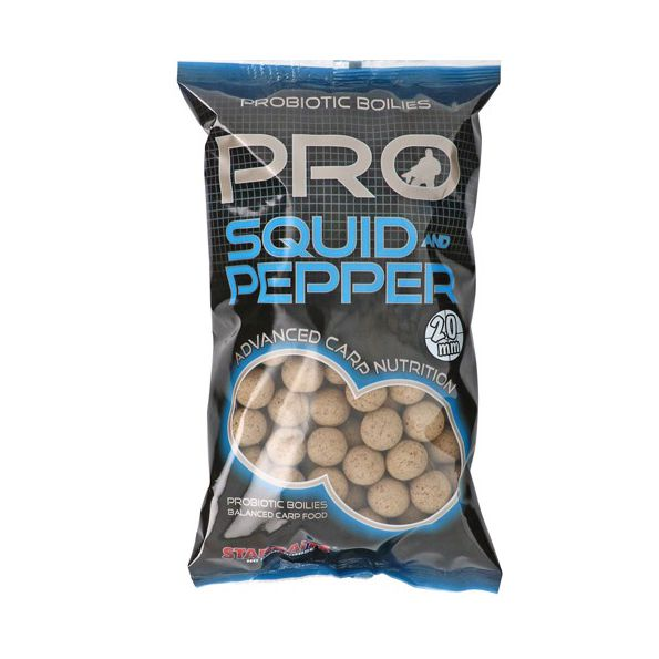 STARBAITS PROBIOTIC SQUID & PEPPER Boilies 20mm