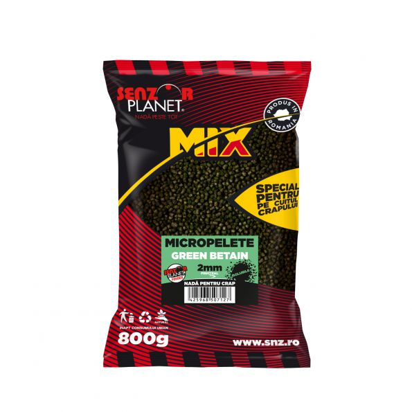 SENZOR PLANET MICROPELLETS GREEN BETAIN 2mm 800gr