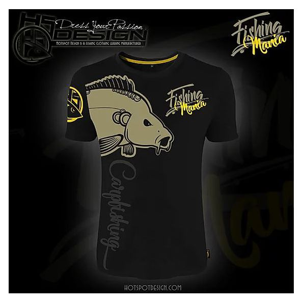 Hot Spot T-shirt Fishing Mania Carpfishing Negra