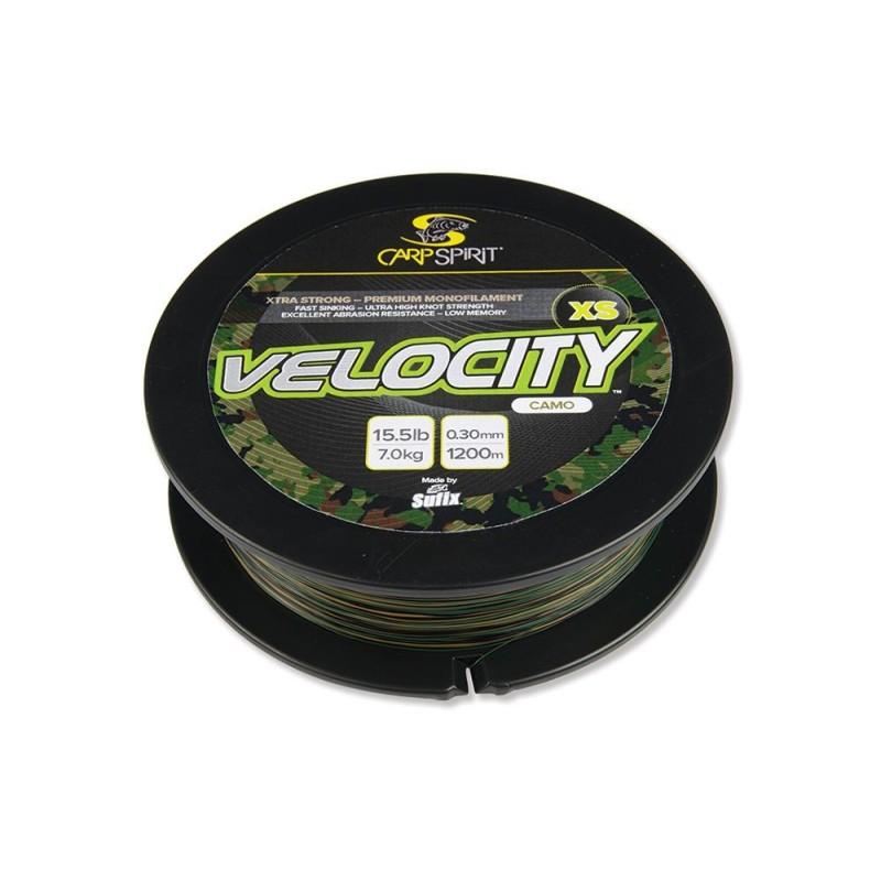 Carp Spirit VELOCITY XS nylon Verde 0,35mm/8,50kg 1200m