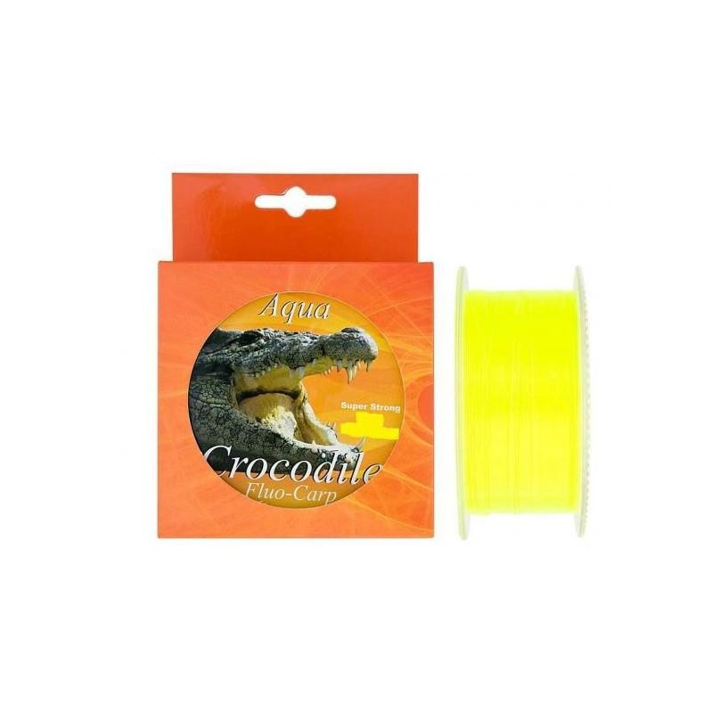 Aqua Crocodile Fluo-Carp 600m 0.25mm 12kg Super strong