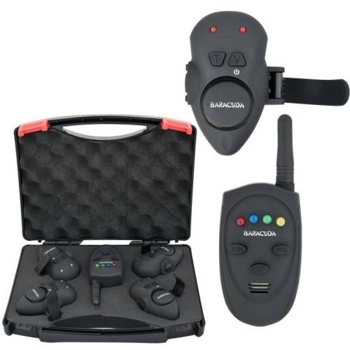 Baracuda set de 4 alarmas inalámbricas (para atar en la caña) SG-V1 + receptor