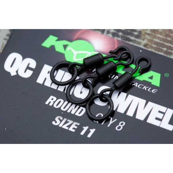 Chrono Carpe Korda Quick Change Swivel Loop Fitting Size 11 8 unid