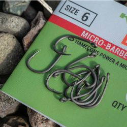 Korum Xpert Power Hooks Barbed talla 12 10unid