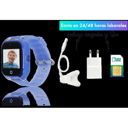 Save family Reloj con GPS Acuático con Camara para niños color Azul Glitter. Modelo Superior