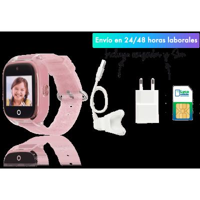 Save family Reloj con GPS Acuático con Camara para niños color rosa Glitter. Modelo Superior