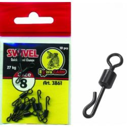 Extra Carp Quick Change Swivel Talla 8 10unid