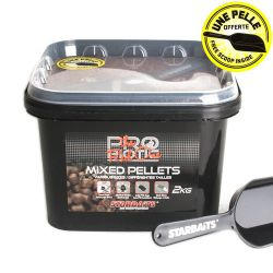 Pellets Mixed Starbaits Probiotic Red 2kg Cubo+pala