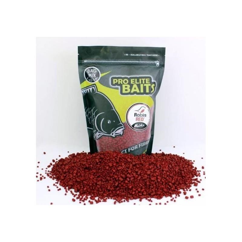 Poisson Bag Mix Pellets 3-4,5-6mm ROBIN RED