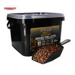 Pellets Mixed Starbaits SPICY CHICKEN 2kg Cubo+pala